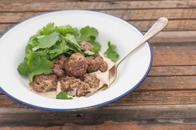 Beef & Carraway Meatballs with Tahini Yoghurt-2