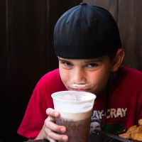 Colin with his Butter Beer