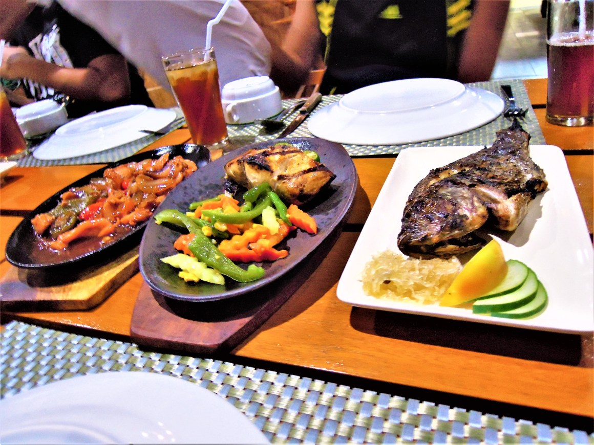 tuna belly and grilled bangus