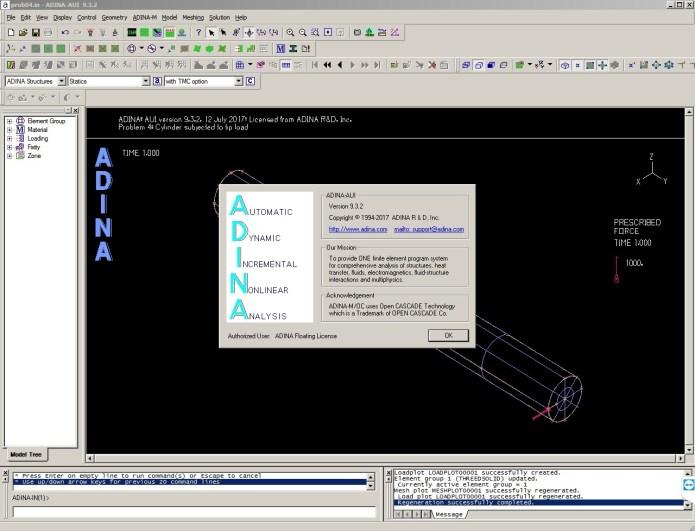 ADINA System 9.3.2 Win-Linux x64