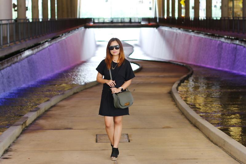 black-shirt-dress-quay-sunglasses-zac-posen-bag-4
