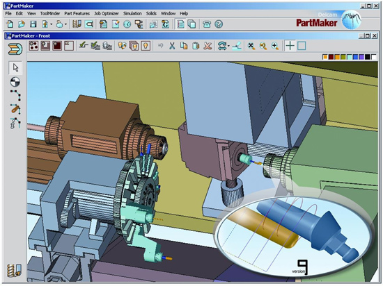 CNC Machine simulation with Autodesk PartMaker 2017 SP2 full license