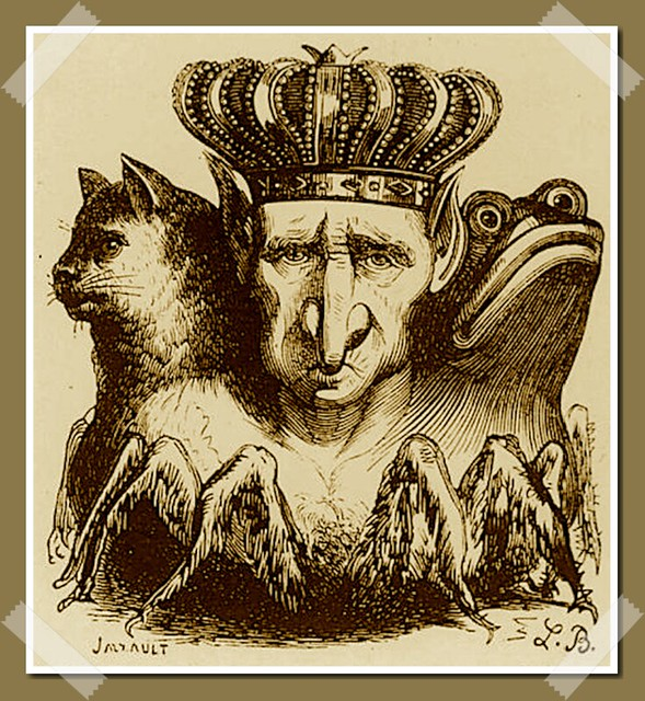 Baal tel que décrit dans le Dictionnaire Infernal de Collin de Plancy, édition 1863.