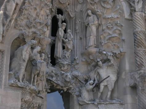 Barcelona Sagrada Familia front detail