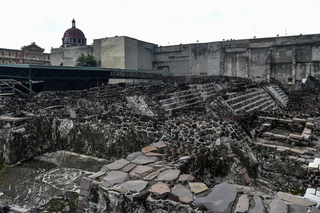 Staircase ruins at Templo Mayor