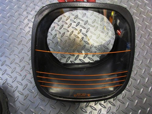 Headlight Lens with Horizontal Orange Stripes