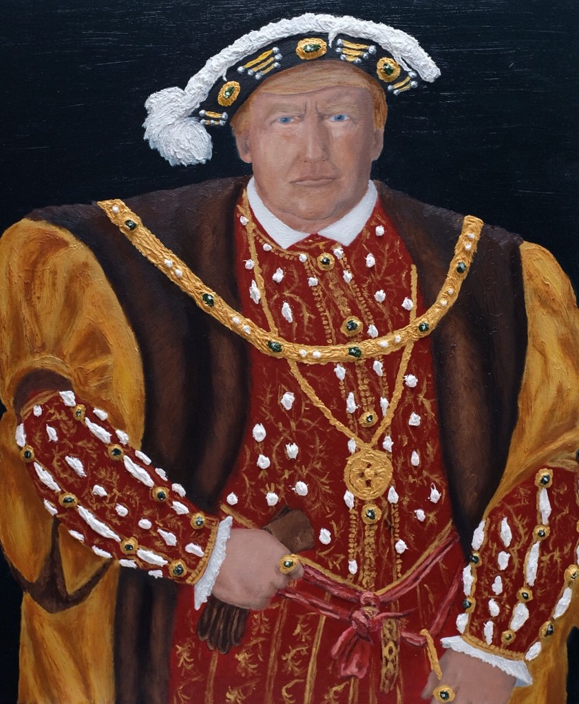 """Painting """"Contemporary King Henry VIII"""""""
