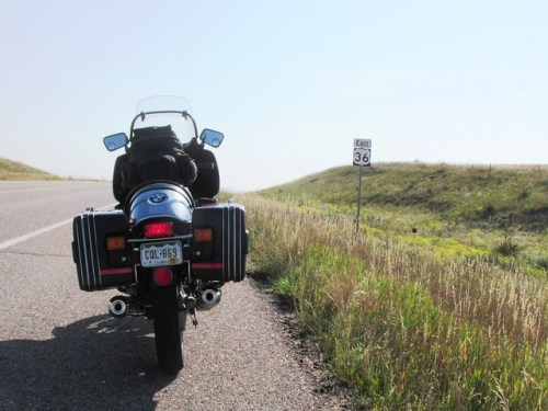 Riding on US 36 in Colorado