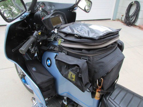 Wolfman Tank Bag with Kathy's Journey's Fairing Bag