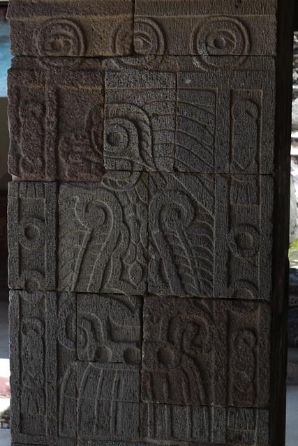 Relief Carvings in the Courtyard of Palacio de Quetzalpapalotl