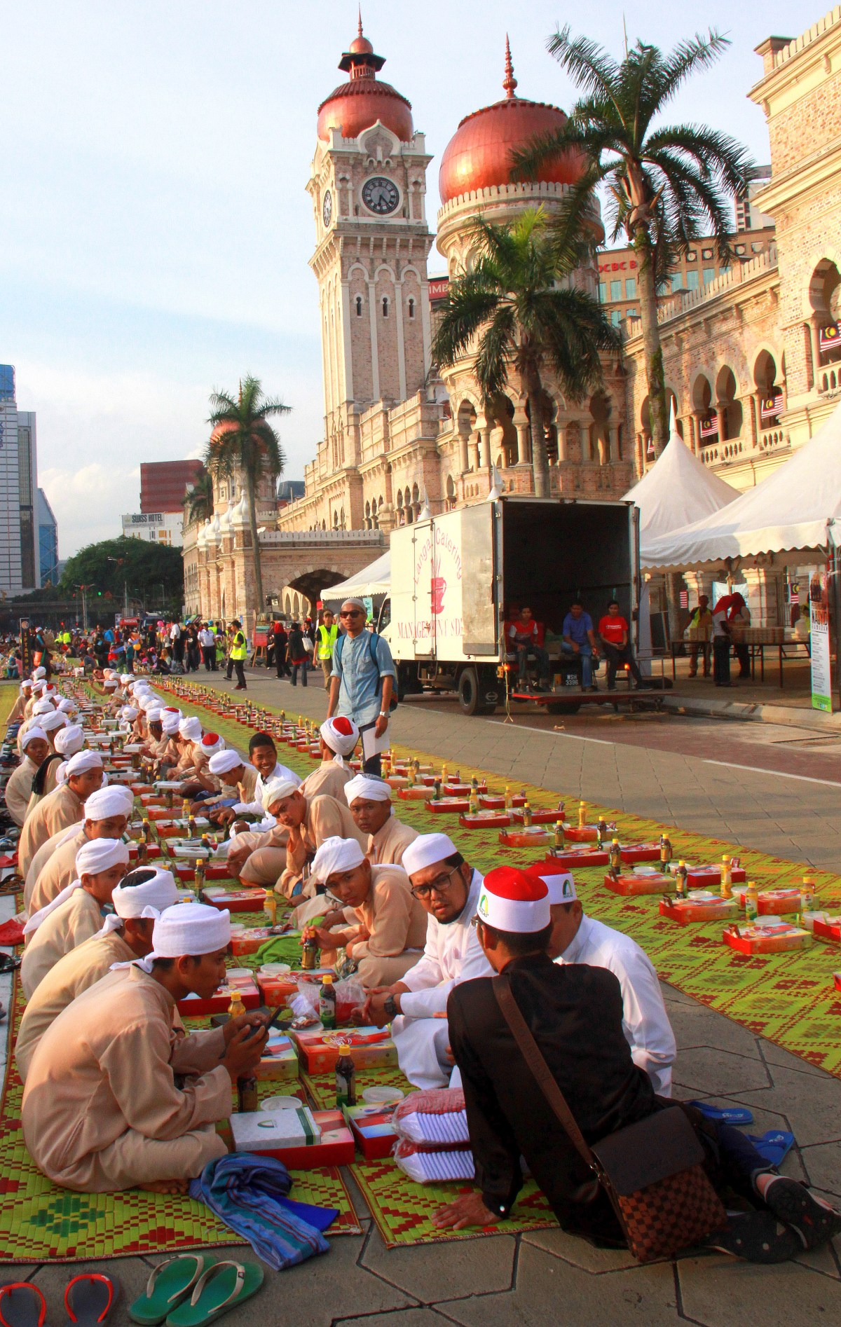 Ramadan feast at Merdeka Square in KL