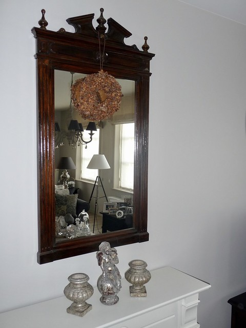 Spiegel krans beeldjes
