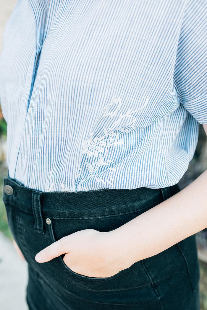 austin style blogger writes like a girl madewell denim skirt10