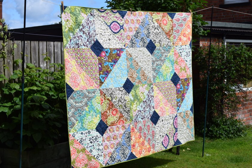 Autumn Boho Quilt (British Patchwork & Quilting Sept17)