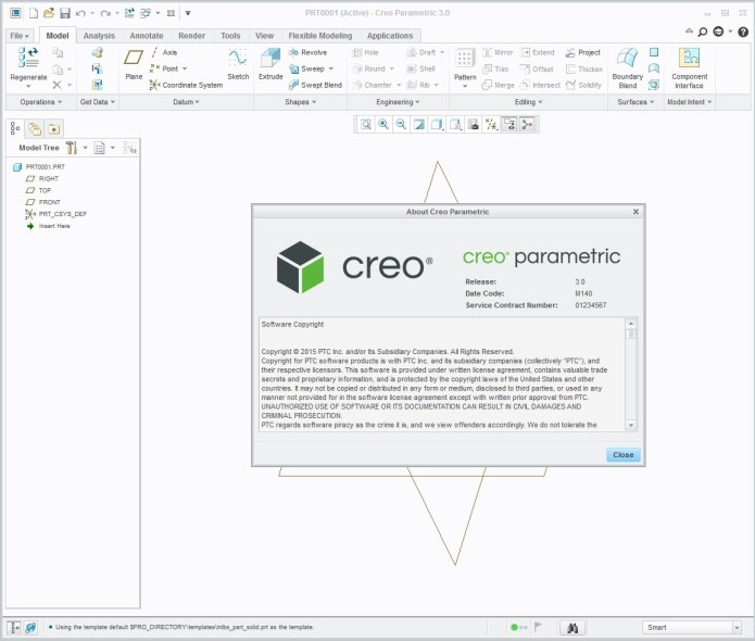 Design with PTC Creo Parametric 3.0 M140 full license