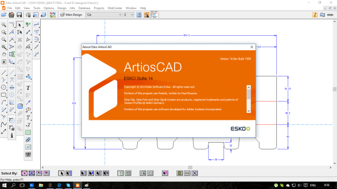 Design with ESKO ArtiosCAD 14.0 full license