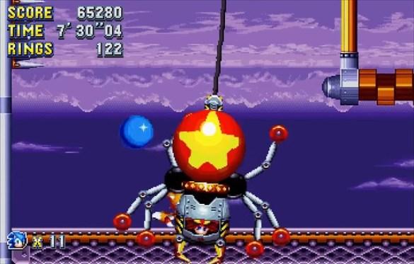 Sonic Mania - Dr Robtnik Flying Battery Boss