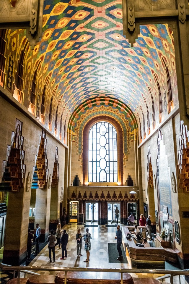 a colorful art-deco masterpiece, and definitely worth seeing in person!