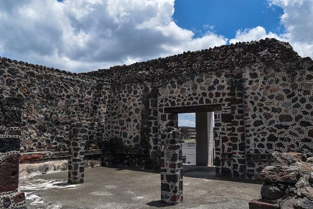 Restored Wall at Palacio de Quetzalpapalotl