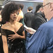 Sonequa Martin-Green being interviewed at the Star Trek Discovery Premiere - IMG_0088