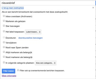 Gmail regels aanmaken 2