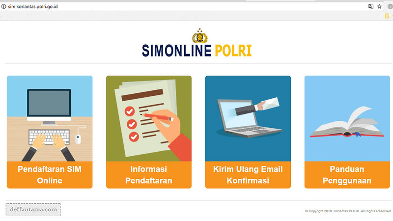 Website Korlantas POLRI