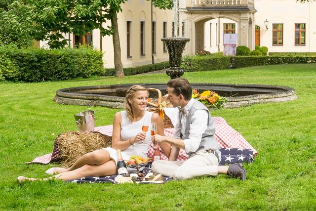 Picknick vorm Schloss