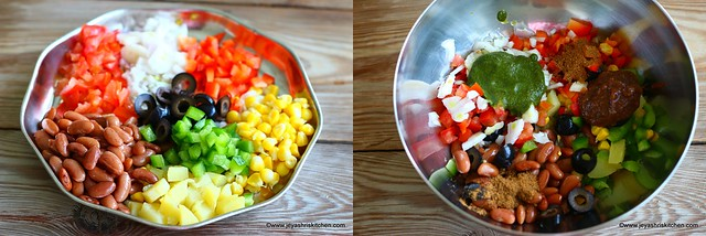 Mexican bhel chaat
