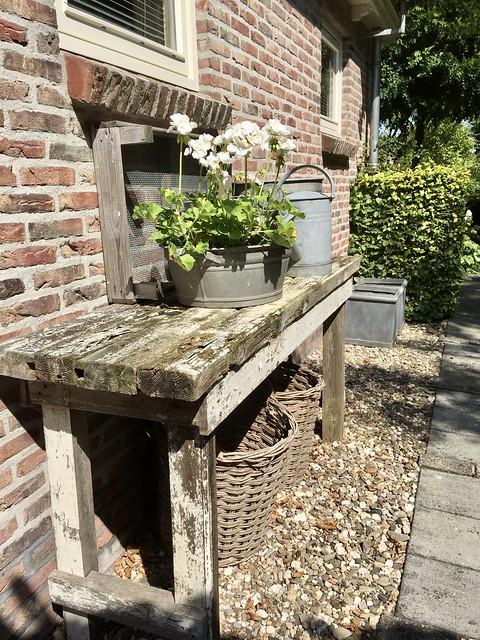 Sidetable landelijke tuin