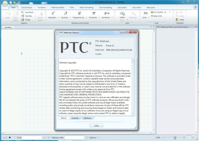 PTC MathCad premi 3.1 full license