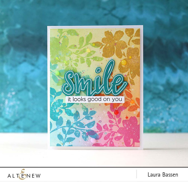 Altenew-Floral Shadow & Halftone Smile