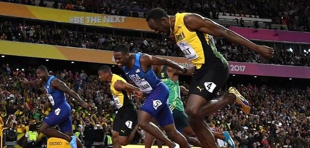 Gatlin vence a Bolt
