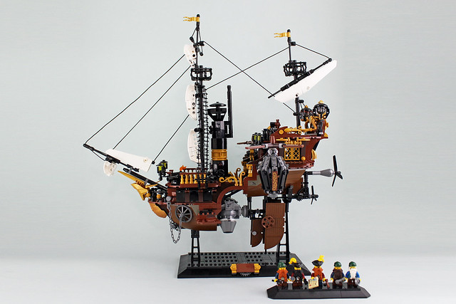 Dwarves' Airship bateau steampunk