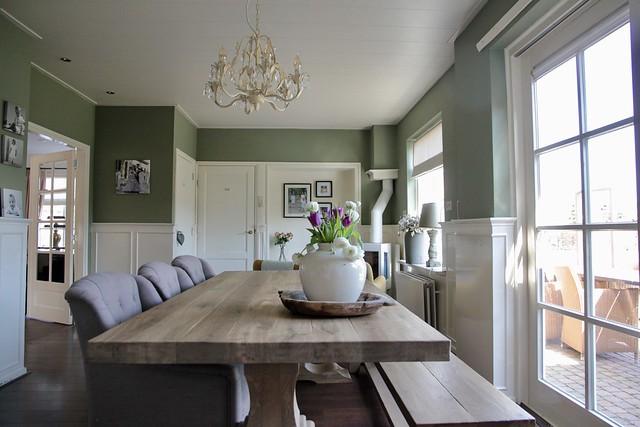 Keuken landelijke stijl met kleur