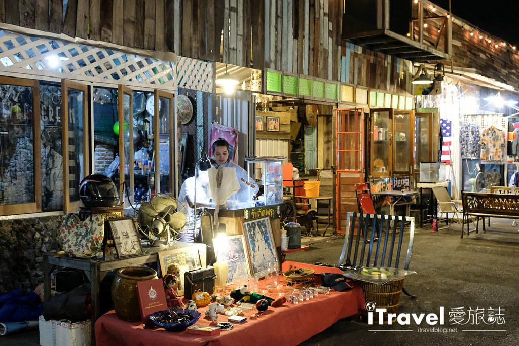 《曼谷夜市集景》暹羅吉普賽夜市:紫線捷運上在地生活市集