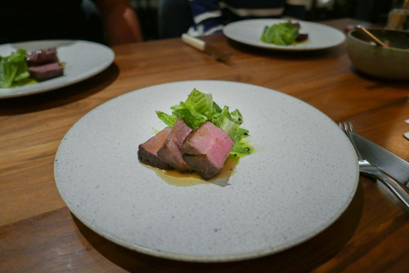 Vegas Strip Steak, Onion, Romaine, Rosemary (Tasting Menu)