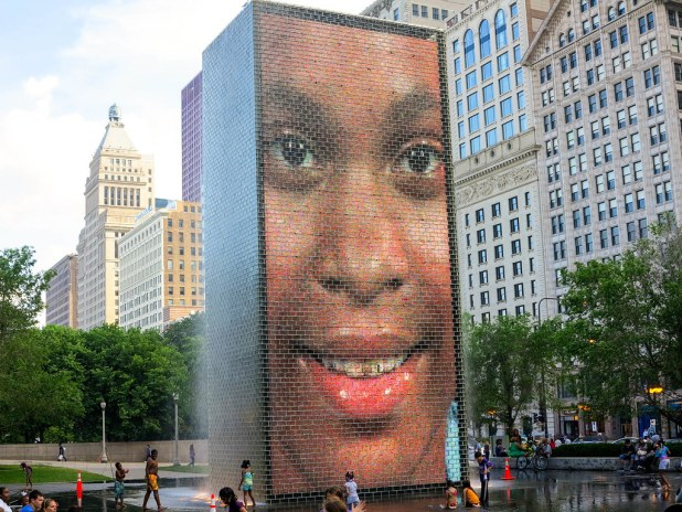 Crown fountain Chicago