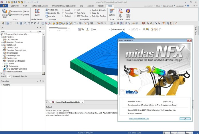 Working with midas NFX 2018 R1 full license