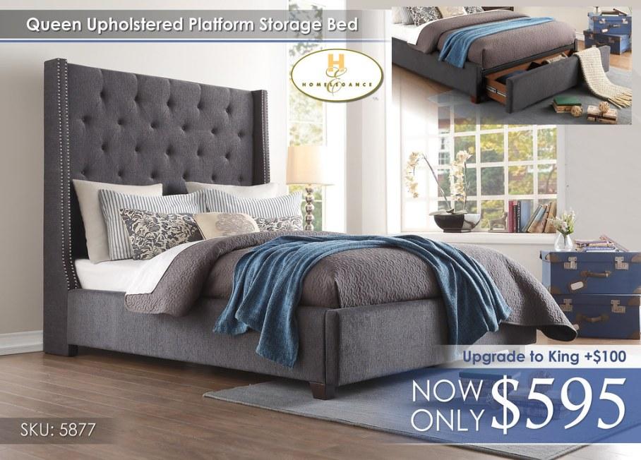 Homelegance Upholstered Bed 5877