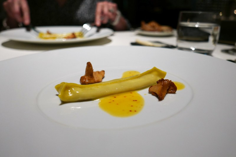 Sweet Corn, Chanterelle Pasta, Espelette