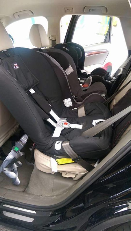 3 Car Seats Across in Diff. Cars
