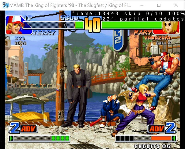 2017-08-17 21_29_27-MAME_ The King of Fighters '98 - The Slugfest _ King of Fighters '98 - dream mat