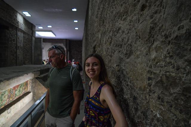 Briana and Father at Palacio de Quetzalpapalotl