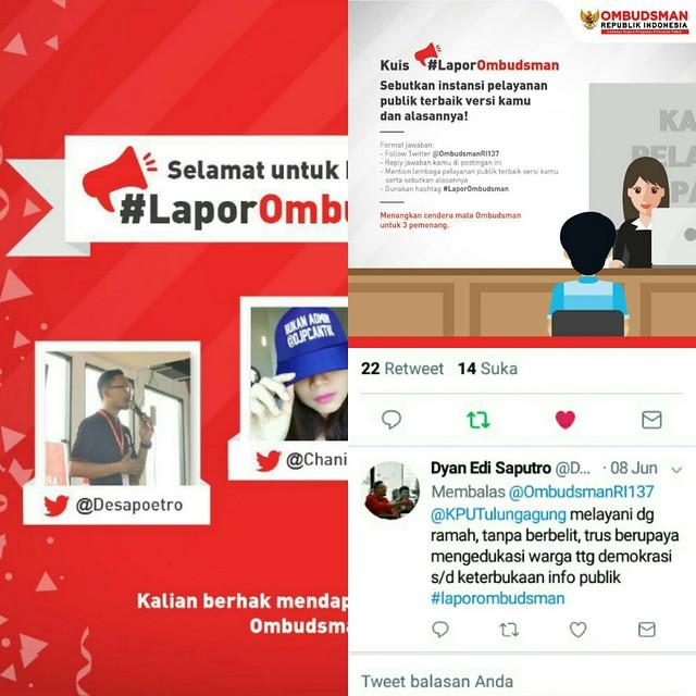Cuitan di Akun Resmi Ombudsman RI dari Twitter @Desapoetro