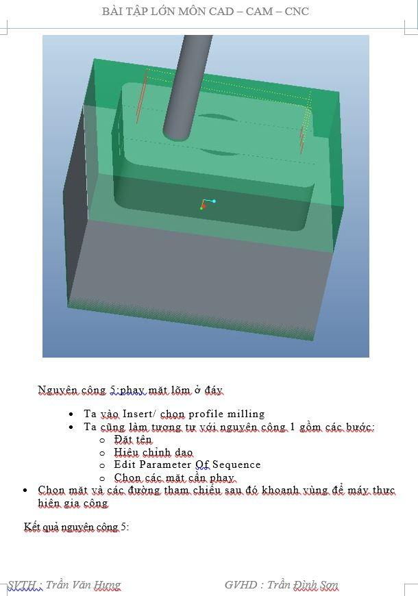 Bài tập lớn môn công nghệ CAD-CAM 2015
