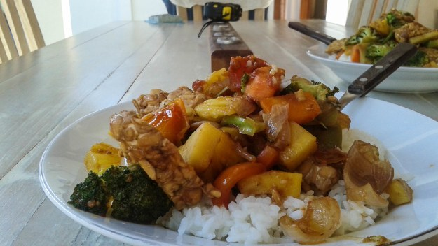 Dishes at home Tempeh stir fry