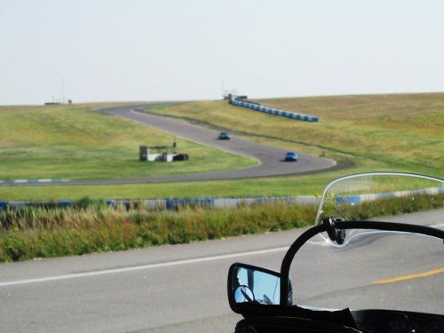 Race Cars on the High Plains Race Track Along US 36