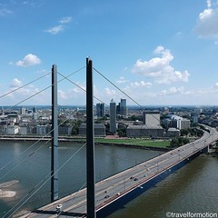 #aerialphotography #bridge #landscape #blue #summer #sky #visitduesseldorf #dusseldorf #düsseldorf #germany #wanderlust #travel #travelphotography #citybreak #visitgermany #guardiancities #guardiantravelsnaps #vsco #vscocam #igtravel #dusseldorf_de #city