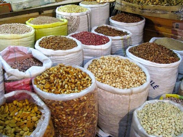 Frutos secos en Marrakech