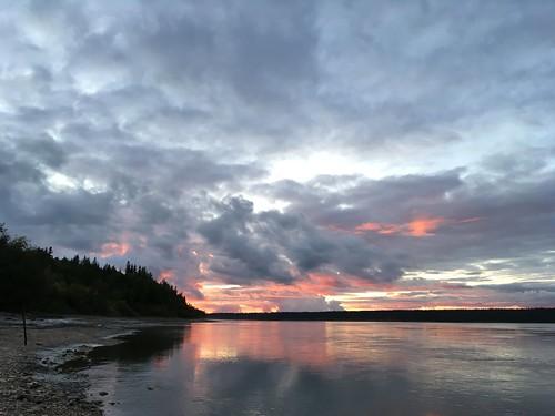 Sunset over Slave River